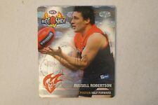Melbourne Demons -Hard to Find -Silver Hot Shot Tazo - Russell Robertson -Signed