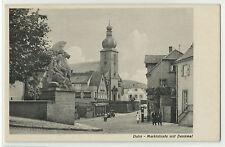 "Dahn Marktstrasse mit Denkmal um 1935 Stempel ""KLV-Lager"""