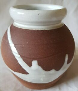 Vintage Irish Studio Pottery Vase By Stephen Pearce Signed On Base