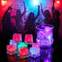 LED Ice Cube Colorful Flash Light Wedding Festival Party Decorative Glowing kq
