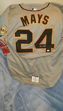 willie mays signed sf giants jersey