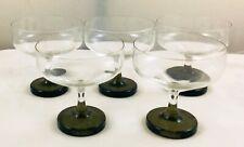 Rosenthal - Berlin Variation Smoke  - 5 x round base champagne bowls glasses