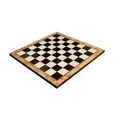 "Maple Burl & Ebony Superior Traditional Chess Board - 2.5"" Squares"