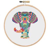 Elephant Cross Stitch Pattern, Mandala Cross Stitch, Animal Cross Stitch