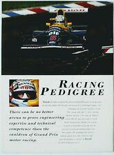 1992 Williams Renault Clio 16-Valve Brochure FW14B Nigel Mansell Ricardo Patrese