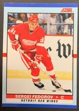 1990-91 Score Young Superstars - #9 Sergei Fedorov - Detroit Red Wings