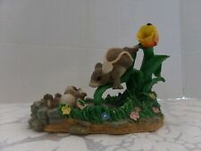 "Charming Tails~ ""The Waterslide"" ~Figurine 4"" Tall X 5"" Long"