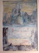 """Diana Loewenstein, Oil , """"Landscape With Sun"""" 1957"""
