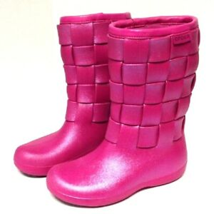 🐊🐊 Winter Boot Supermolded Weave Iridescent Berry Pink Women 5  NWT