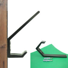 2 × Multi-function Black /Skateboard / Headset / Plastic Wall Mount Rack Storage