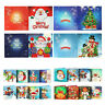 4/8X 5D Christmas Greeting Birthday Cards Diamond Painting Embroidery DIY Gifts