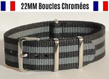 ★ NATO ★ 22MM ★ Bracelet montre Watch Band Strap Nylon Military Army Bond 007