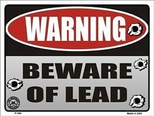 "Made in Usa ""Warning"" ""Beware Of Lead"" Metal Sign Man Cave Garage Bar 9""x12"""
