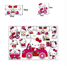 Pink Hello Kitty Wall Sticker Removable Kids Nursery Room Decal Home Decor