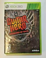 Guitar Hero: Warriors of Rock Microsoft Xbox 360 2010 Complete