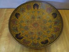 Vtg/Antique Enamel Brass Bowl Handmade Painted Floral Uniquely Designed pattern