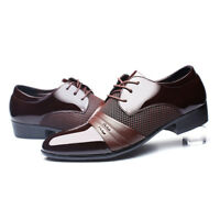 Men's Leather Shoes New Dress Formal Business Oxfords Business Casual Fashion US