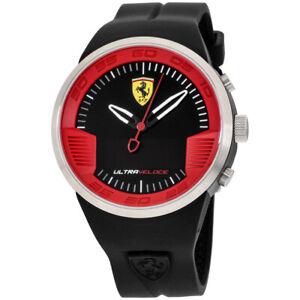 Ferrari Ultraveloce Quartz Movement Black Dial Men's Watch 830373