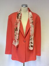 BNWT HUDSON & ONSLO APRICOT JACKET WITH DETACHABLE SCARF SIZE 22 RRP £59