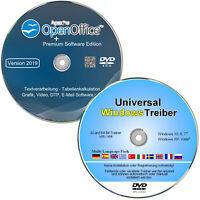 Treiber DVD + OpenOffice Premium Software für Windows 10, 8, 7, Vista  ✔ 2 DVD`s