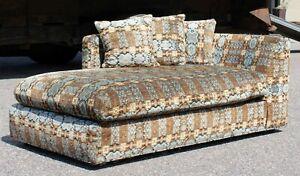 Mid Century Modern Baughman Lenor Larsen Style Chaise Lounge Chair Loveseat 60s