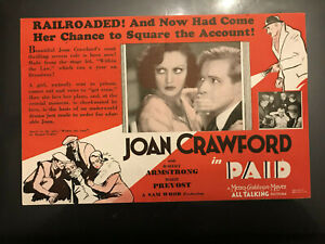 "Paid 1930 MGM 5x1/2x9"" crime herald Joan Crawford Douglas Montgomery"