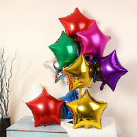 "Lot 5""/10""/18 Star Foil Helium Balloons Wedding Birthday Baby Shower Party Decor"