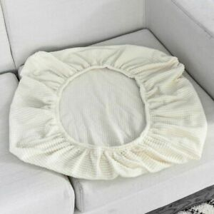 1/2/3/4 Seat Cushion Covers Chair Covers Polar Fleece Stretch Washable Removable