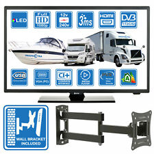 "Motorhome Caravan Boat 12V 240V 22"" Inch FHD LED Digital Freeview TV USB PVR"