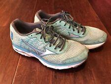 Mizuno 410637 Wave Inspire 11 Running Training Shoes Foam Green Women's Sz 10.5