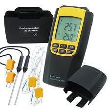 Numérique K / J Type Thermocouple Thermomètre 4 Sondes Température Mètre Testeur