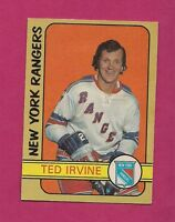1972-73 OPC # 212 RANGERS TED IRVINE HIGH # GLUE CARD (INV#2180)