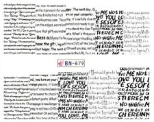 Nail Art Decals Transfers Stickers Words Headlines Letters (BN879)