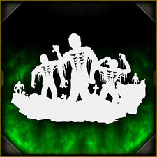 Zombie Silhouette 3 - Airbrush Stencil Template Airsick Zombies