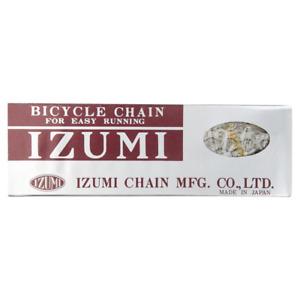 """Izumi Standard Single Speed Chain 1/8"""" Silver 116L Track Fixed Gear BMX Bike"""