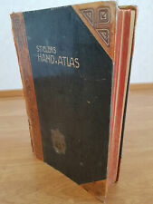 1908 STIELER ATLAS - 9th Edition - Stored in a Private Company Library Since New