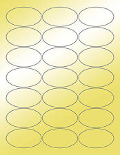 6 SHEETS 1-3/8x2-1/2 OVAL BLANK GOLD METALLIC STICKERS,WEDDINGS,CANDLES, ON BAGS