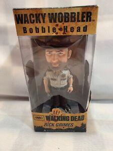 RICK GRIMES Walking Dead Bobble Head Wacky Wobbler Funko Toy NEW 2012