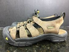 WOMENS KEEN NEWPORT H2 BROWN NUBUCK LEATHER HIKING TRAIL SANDALS SIZE 8 - B5
