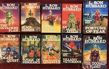 L. Ron Hubbard lot 10 - Mission Earth HC/DJ Comp. Set - (2) 1st ed. - FREE Ship