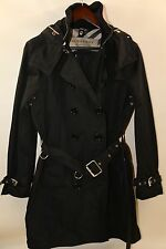 #157 Burberry London Mid-Length Technical Double Breasted Trench Coat Size 10
