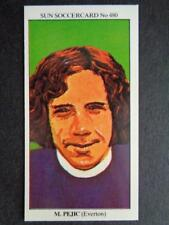 The Sun Soccercards 1978-79 - Mike Pejic - Everton #480