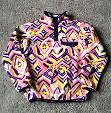PATAGONIA Synchilla Snap T Fleece Girls Size XL 14 Raven Tapestry Panther Purple