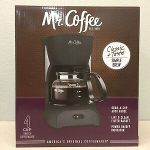 Mr. Coffee DR5-NP Simple Brew 4 cup Black Coffee Maker