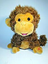 Battery Operated Plush Monkey Makes Monkey Sounds Oo Oo Ah Ah