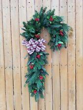 Fresh Frazier Fir Pine, Candy Cane Wreath