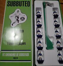 Squadra Bordeaux (nerazzurro, utilizzabile come Inter) Old Subbuteo Hasbro