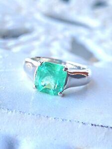 DREAMY 3.50 CARAT NATURAL EMERALD || Solitaire Platinum Ring