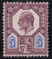 George V 1902 5d Purple & Ultra SG 242 Perf 14 Watermark Crown  L Mounted Mint