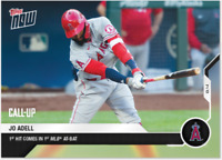 2020 MLB Topps Now card #53 JO ADELL first hit first at-bat LOS ANGELES ANGELS